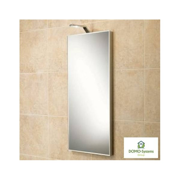 Miroir chauffant infrarouge 600 watts domo systems 598 for Miroir infrarouge