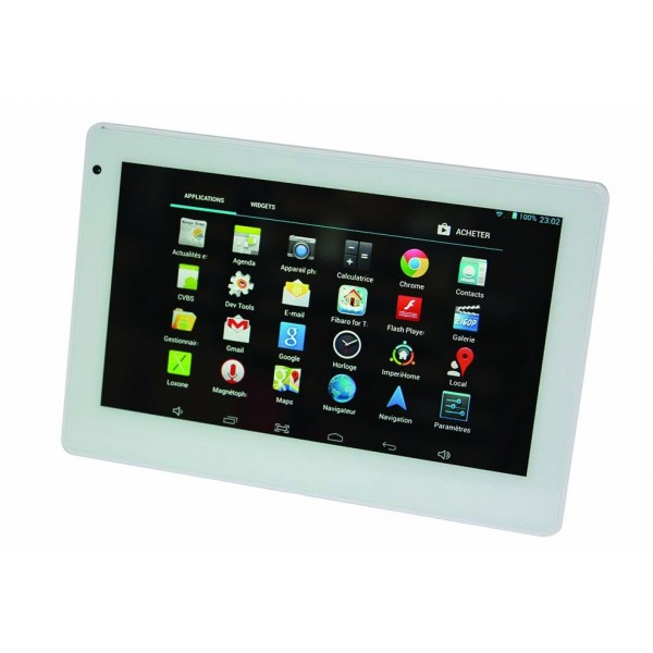 tablette murale encastrable poe android 7 avec support de recharge 319 90. Black Bedroom Furniture Sets. Home Design Ideas