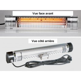 Infralogic HM 500 IP 65 - Chauffage infrarouge à ondes courtes (IR A) - Domo-Systems